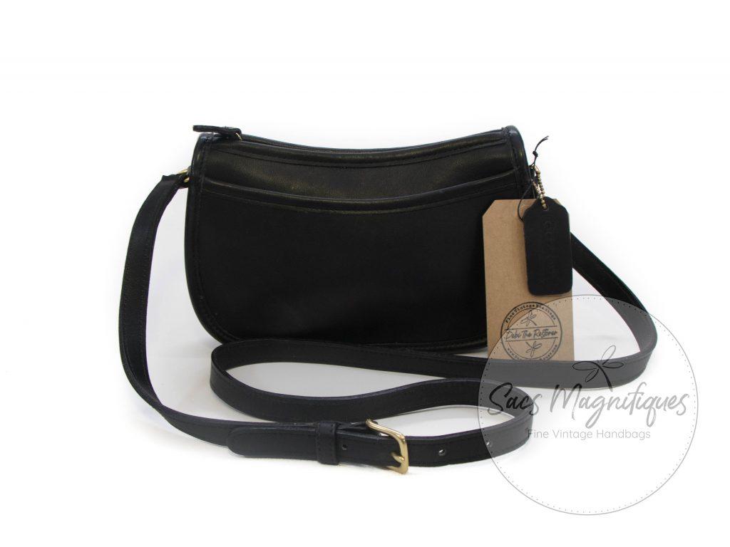 faa73c0b Vintage Coach Wendie Crossbody Bag in Black Glove-Tanned Leather EUC #9031