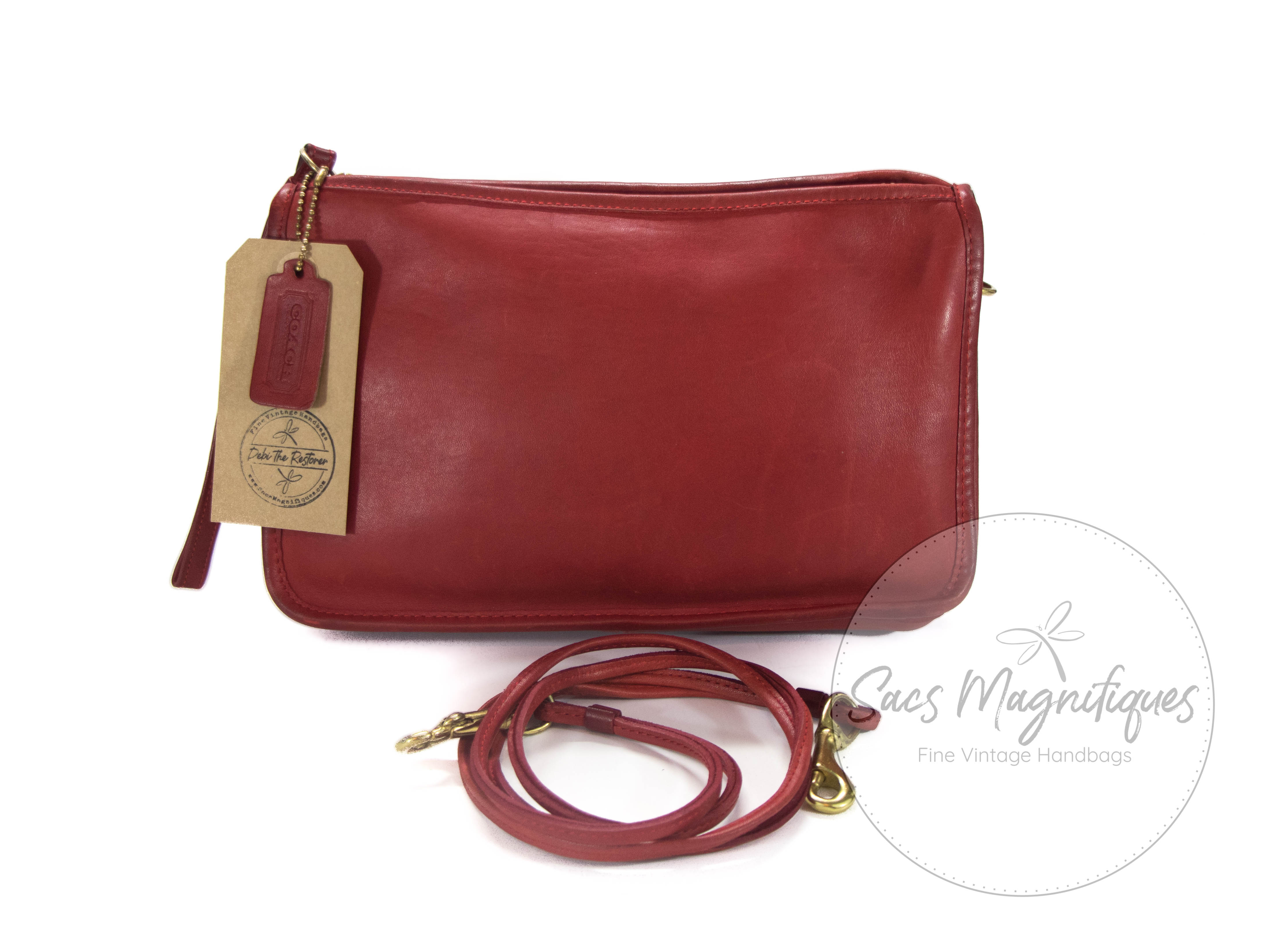 Vintage Coach Bag Basic Convertible Clutch Red
